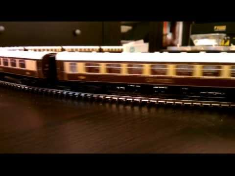 N Gauge Flying Scotsman & 14 Car Pullman Rake Test
