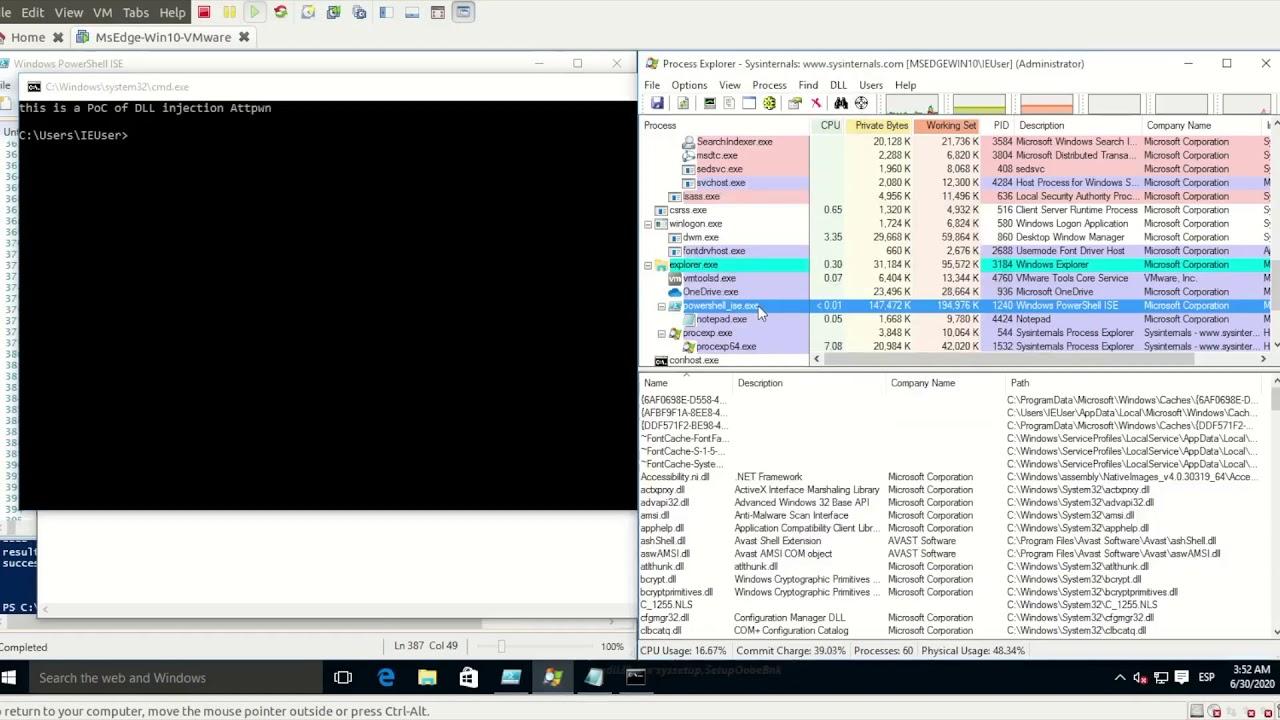 PoC DLL Injection con PowerShellMafia