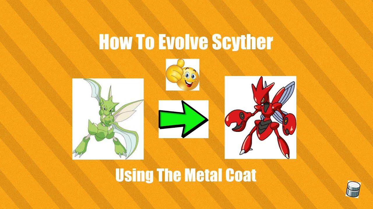 How To Evolve Evolve Scyther Into Scizor Youtube