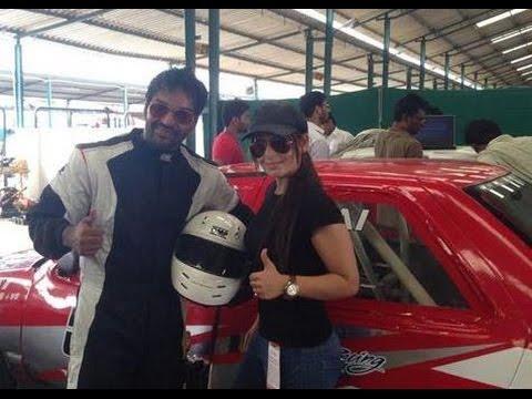 Jai Gets Racing Tips From Narain Karthikeyan - Thanthi TV