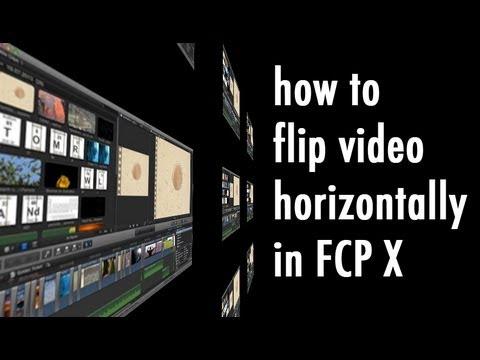Flip or Mirror Video Horizontally in Final Cut Pro X