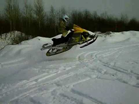 Ski Doo Tundra >> Ski Doo jumps (Tundra 300) - YouTube