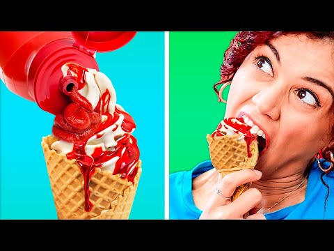 WHEN FOOD IS YOUR BUDDY || Funny Food Life Hacks by 123 GO! GOLD