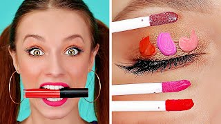 DIY MAKE UP HACKS AND TIPS || Cool And Simple Girly Ideas by 123 GO!