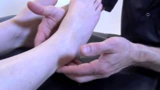 Massage de la cheville et du pied