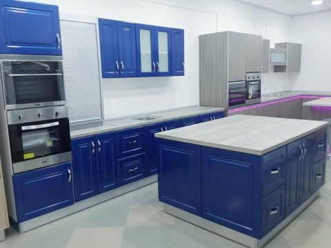 cuisine moderne bleu youtube. Black Bedroom Furniture Sets. Home Design Ideas
