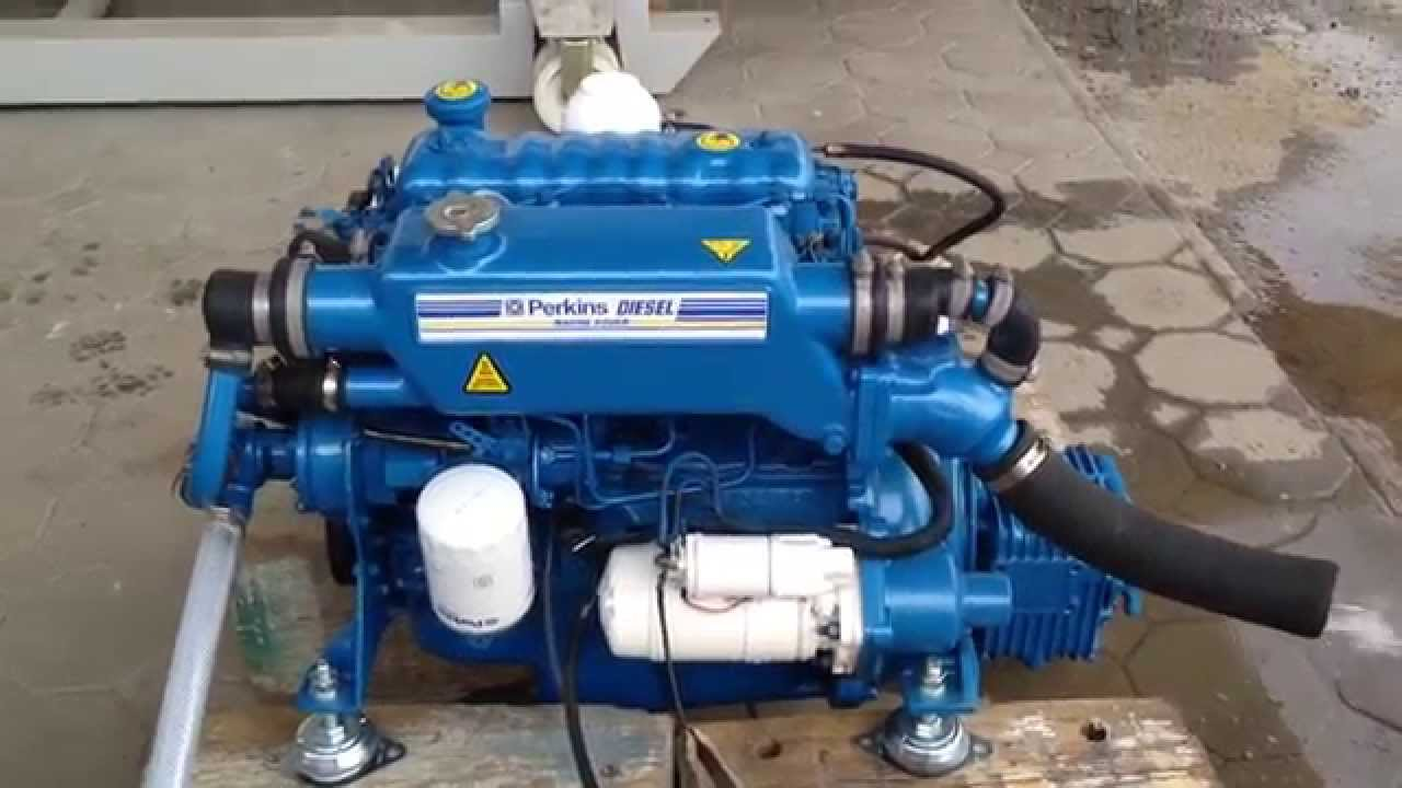 Perkins 4108 - 50 HP - Hurth HBW 10 - Diesel Engine - Plovila Mlakar