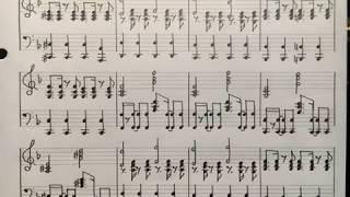 伴奏を耳コピして楽譜に起こしました。 この伴奏をもとに合唱などしてい...