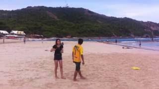 Тайланд. Остров Ко Ларн (Koh Larn). Пляж Самае бич (Samae beach).(Пляж Samae beach (Самае бич) во время отлива., 2016-07-19T05:48:05.000Z)