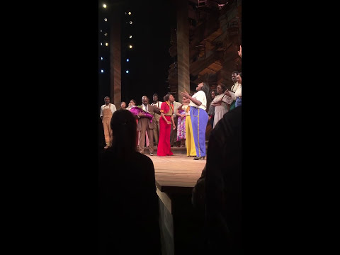 """The cast of The Color Purple sing """"I Won't Complain"""" at Heather Headley's final performance-10/02"""