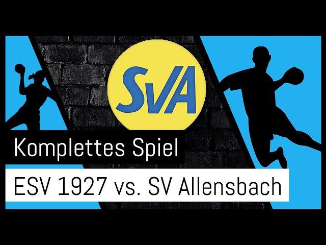 Aufstiegsrunde zur 2. Bundesliga: ESV Regensburg -  Sportverein Allensbach