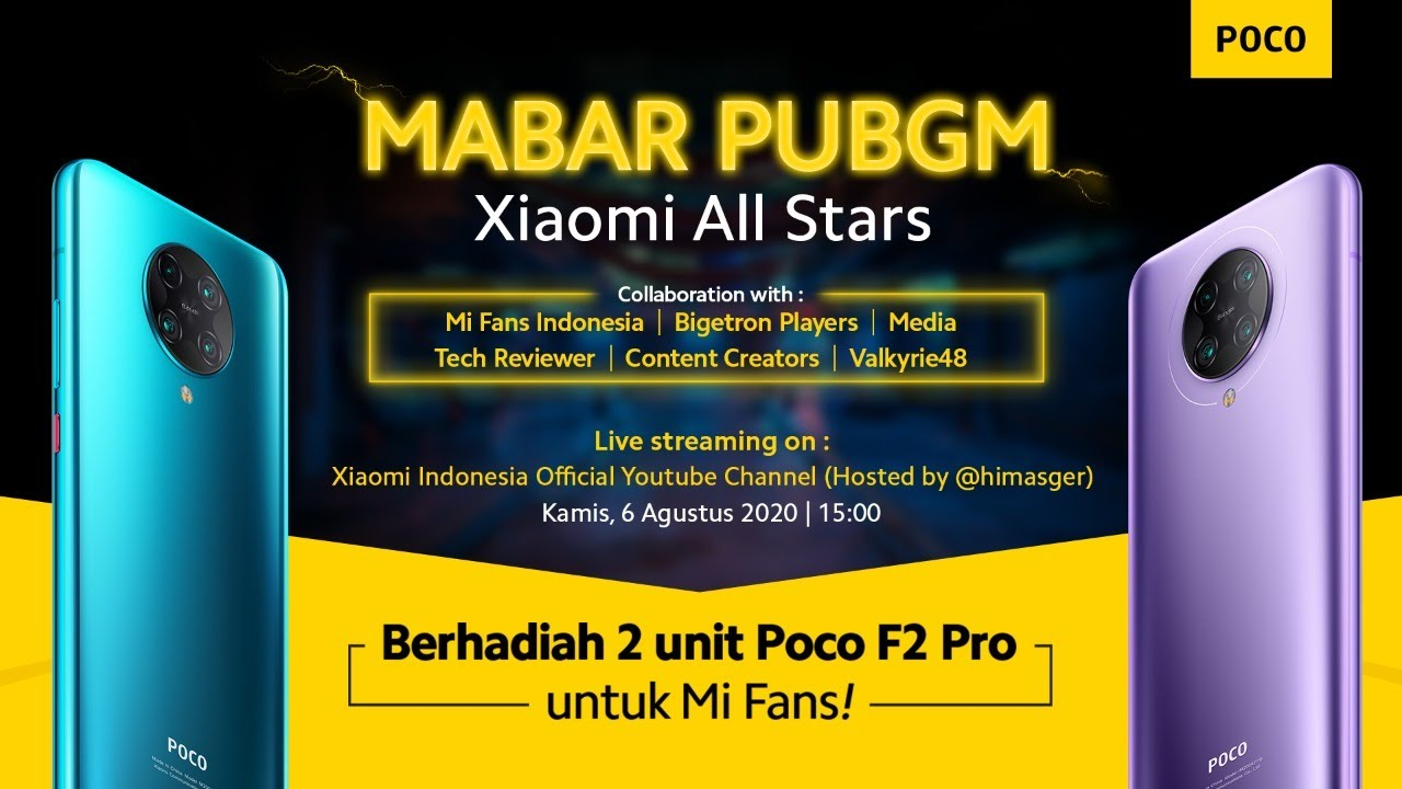 Mabar PUBGM Xiaomi All Stars 2020
