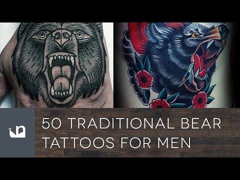 50 Traditional Bear Tattoos For Men