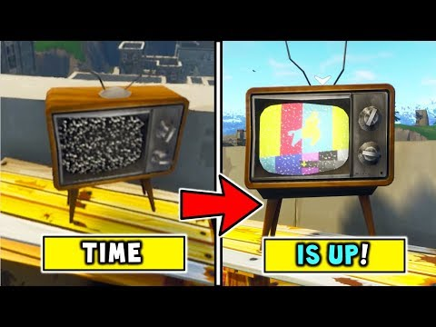 FORTNITE TV Broadcasts *THE END IS COMING* All Over FORTNITE BATTLE ROYALE MAP! METEORITE + ALIENS!