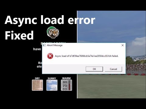 How To Fix Async Load Error in EA Cricket 07