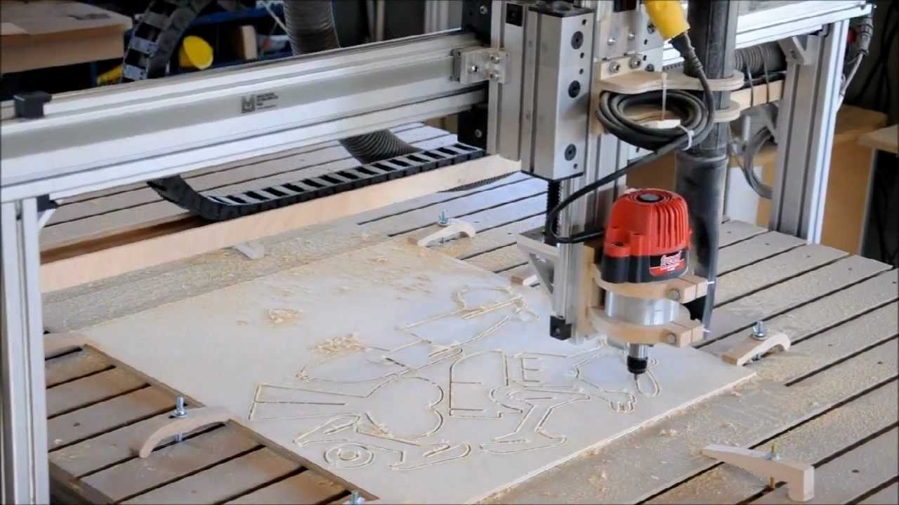 Midnight Robotics DIY CNC cutting out toy airplanes - YouTube