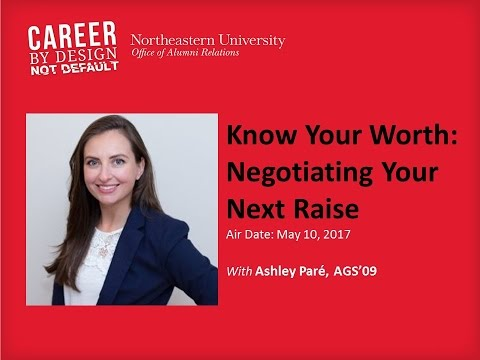 Career by Design Webinar Series: Know Your Worth: Negotiating Your Next Raise