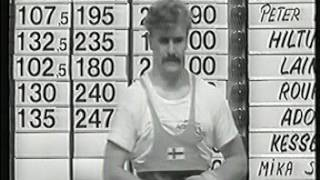 FIN-SWE weightlifting test match 1988