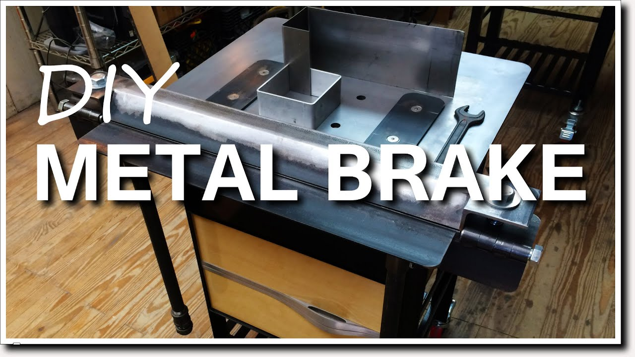 Diy Metal Brake For Bending Sheet Metal Youtube