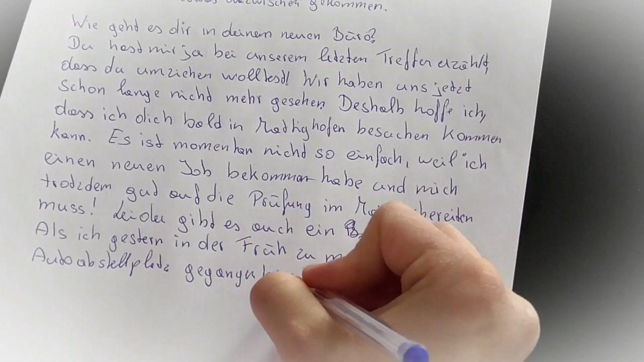 Musterbriefe B1 Prüfung : Deutsch prüfung brief b und a schreiben priv