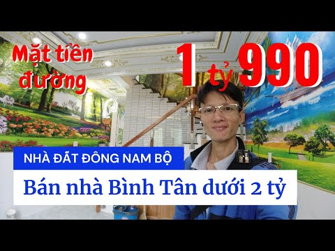 Chính chủ Bán nhà quận Bình Tân dưới 2 tỷ, Mặt tiền đường số 18D Bình Hưng Hòa A