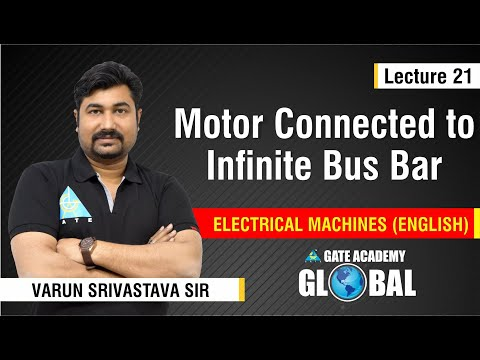 Motor connected to Infinite Bus Bar | Lecture 21 | Electrical Machines