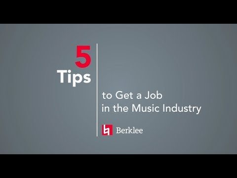 5 Tips to Get a Job in the Music Industry