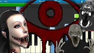 Eyes the Horror Game Theme Song Piano Synthesia Tutorial