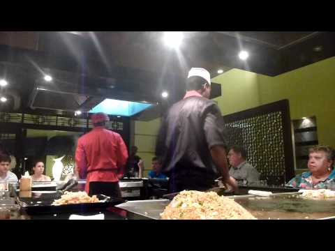Hilarious Master Chef at Himitsu Restaurant @ Secrets Wild Orchid in Montego Bay, Jamaica