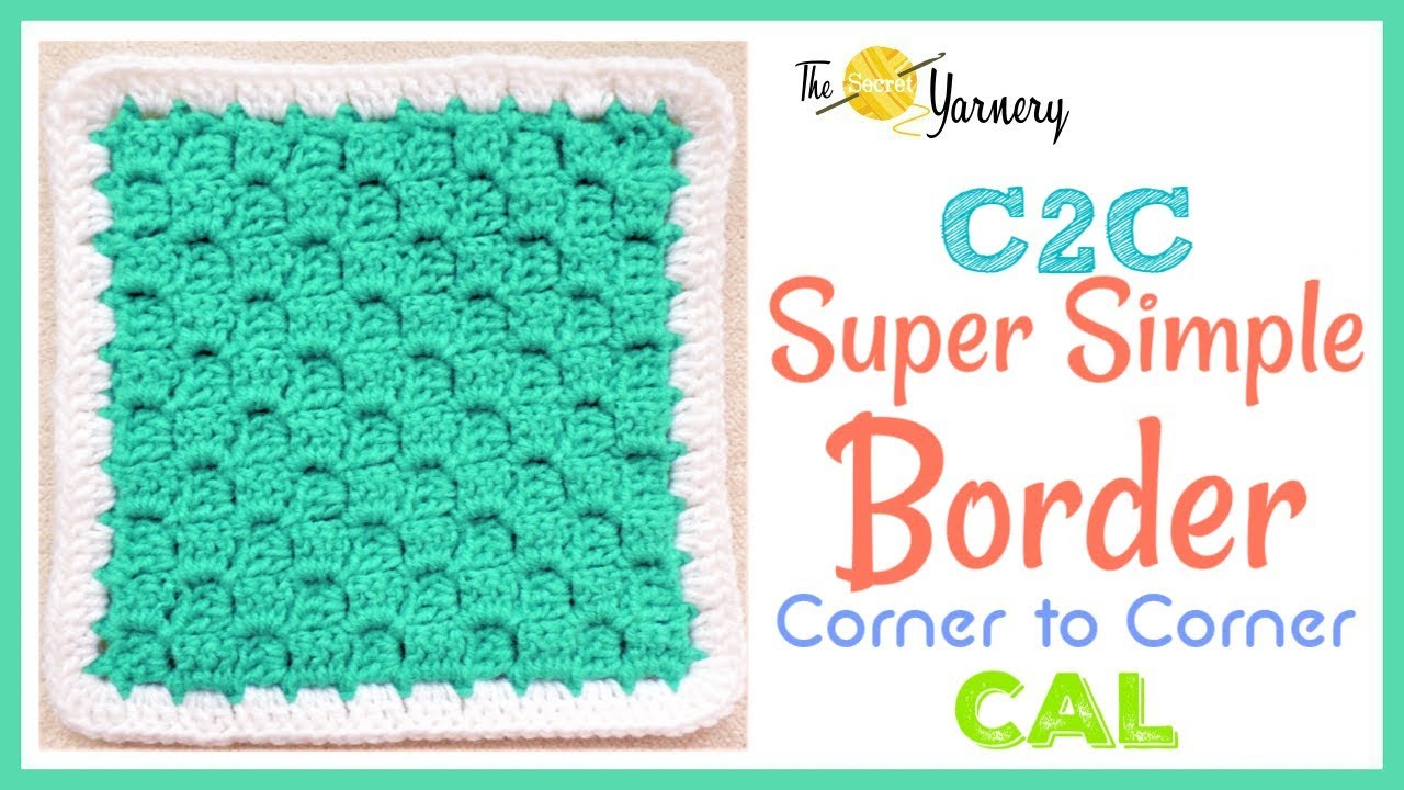 super simple crochet border