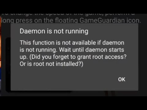 Game Guardian daemon error fixed. daemon is not running. Failed to load daemon complete Tutorial.