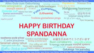 Spandanna   Languages Idiomas - Happy Birthday