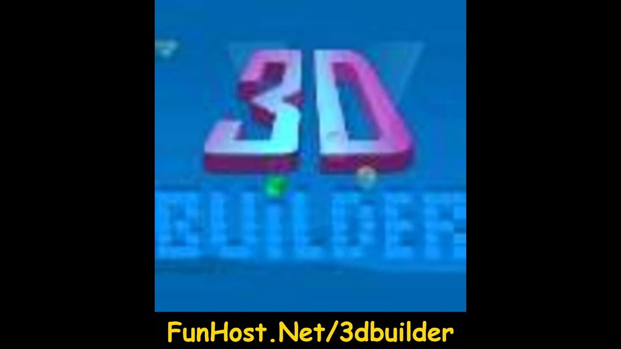 3d builder online video game youtube. Black Bedroom Furniture Sets. Home Design Ideas