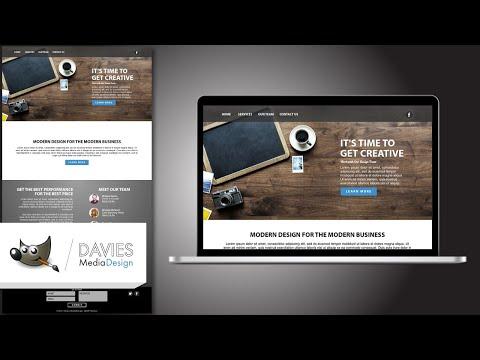 How To Design A Website In GIMP (2018)
