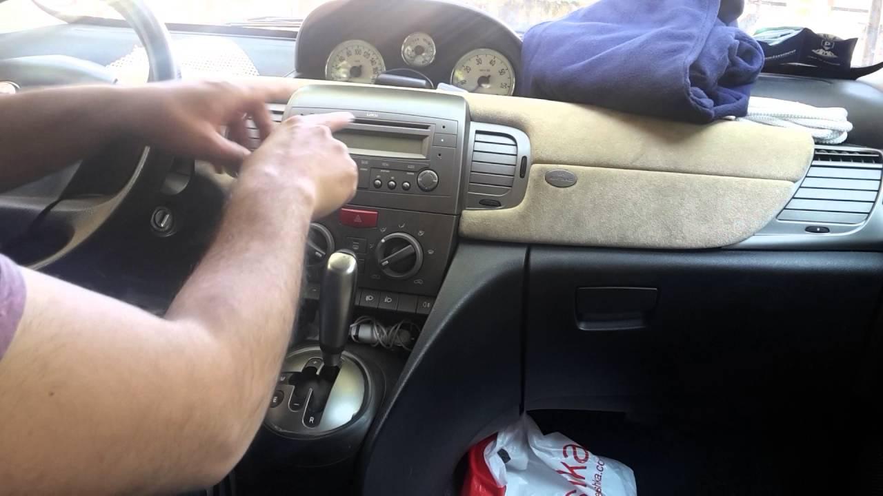 sostituire autoradio lancia y - youtube