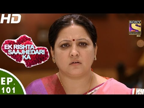 Ek Rishta Saajhedari Ka - एक रिश्ता साझेदारी का - Episode 101 - 28th December, 2016