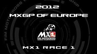 2012 MXGP of Europe (ITA) - FULL MX1 Race 1 - Motocross
