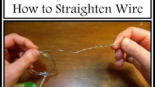 How to Straighten Wİre for Beginners : Jewelry Technique Tutorial