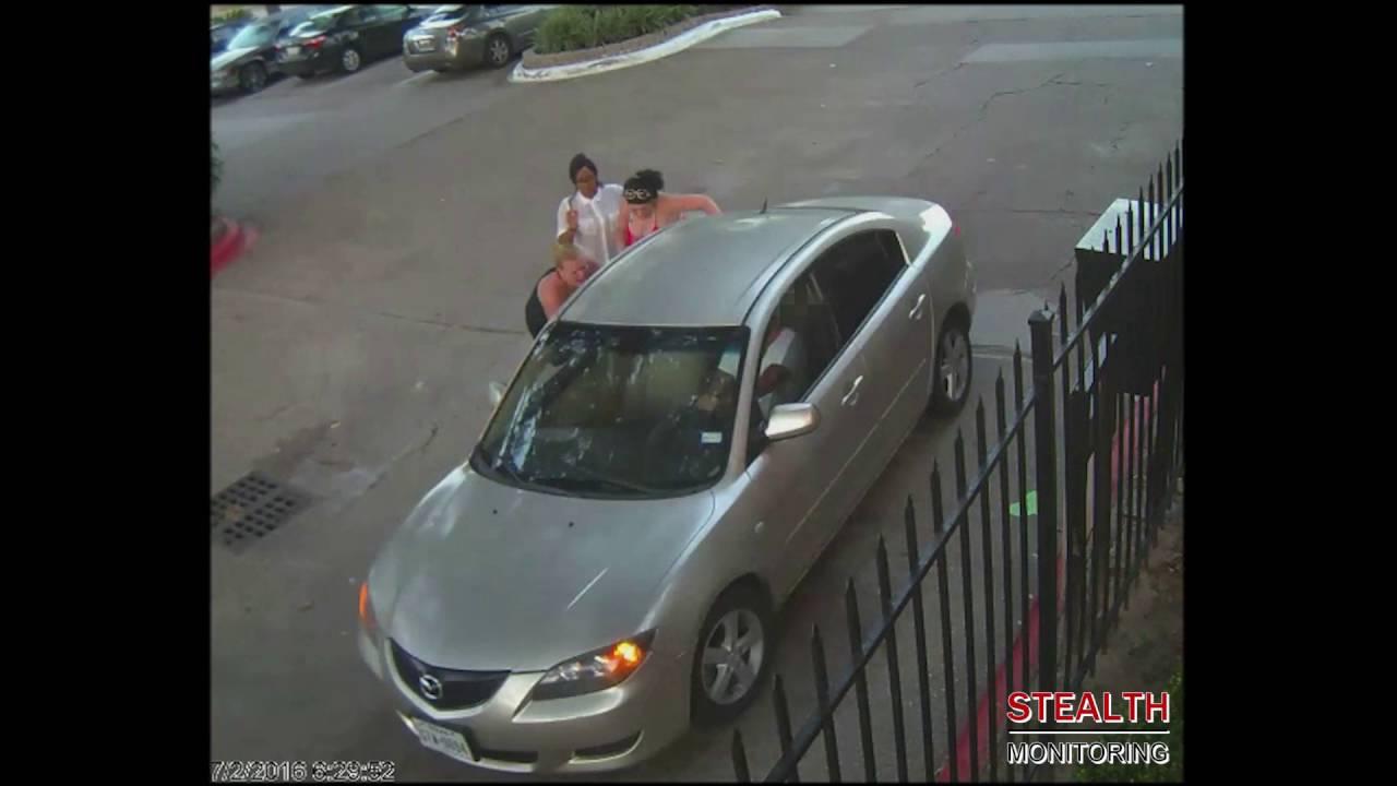 Fight victim taken away by paramedics on stretcher - Live Apartment Video Surveillance
