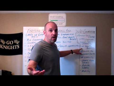 Q&A - Should I work for a Fortune 500 Company, Small Business, or Sub-Contract?
