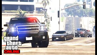 GTA5 (ONLINE) President Escort To L.S int'l Airport (Role Playing) / GTA5 대통령 경호