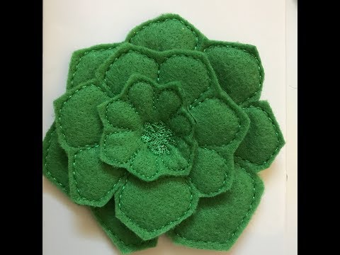 Sew Art - 2017 - How to Digitize a 3d Felt Succulent