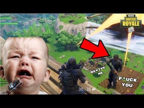 C4 Explosive Trolling Squeaky Kid Stairway To Heaven! (Funny Fortnite Trolls