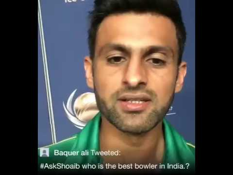 Mohammed Shami is the best bowler in the Indian Team: Shoaib Malik. Ind vs Pak Champions Trophy.