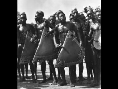 West African Traditional Music  Tribal War Chant Ekonda
