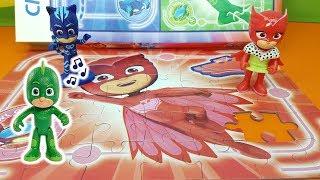 COME FARE IL PUZZLE DEI PJ MASKS I SUPER PIGIAMINI - Challenge per Gufetta , giocattoli per bambini