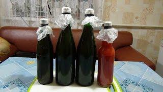 Томатный сок на зиму в бутылках с соляным затвором.