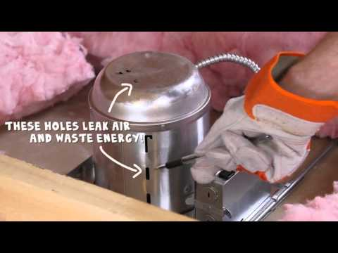 How to air seal attic can lights – Rule Your Attic! with ENERGY STAR