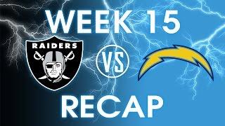 Oakland Raiders vs San Diego Chargers - Week 15 Recap