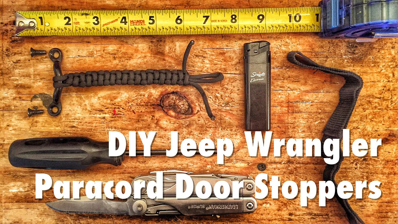 Jeep Wrangler Paracord Door Stoppers Youtube
